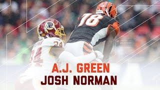 A.J. Green vs. Josh Norman | Redskins vs. Bengals | NFL Week 8 Player Highlights