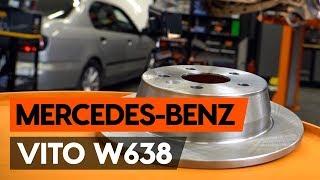 Montering Bremseskiver foran og bak MERCEDES-BENZ VITO: videoopplæring