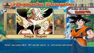 Goku SSJ2 vs Caulifla SSJ2 y Kale SSJ Berserker | DRAGON BALL Z BUDOKAI TENKAICHI 4 MODO HISTORIA
