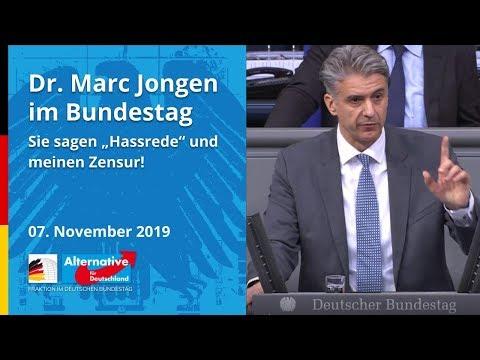 """Dr. Marc Jongen, MdB AfD – SIE SAGEN """"HASSREDE"""" UND MEINEN ZENSUR!"""