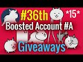 #36th Battle Cats Codes Giveaways : Boosted Account (15 Accounts)