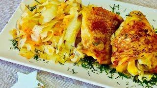 Безумно вкусная тушеная капуста в рукаве с курицей в духовке. Рецепты блюд с курицей. Рецепты.