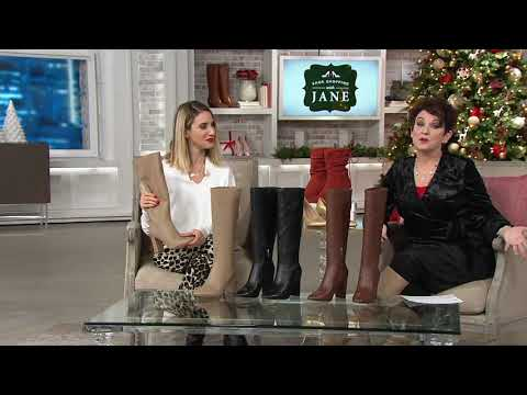 Marc Fisher Leather Tall Shaft Boots - Zimra On QVC