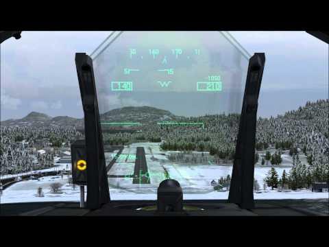 F/A-18E landing at KORS (Orcas Island, WA) (FSX)