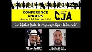Conférence Les injustices fiscales, la corruption politique et la démocratie  Angers #1 - 26/02/2020