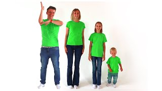 Color Song with Papa and Kids | Mike and Alice with Mommy learn colors