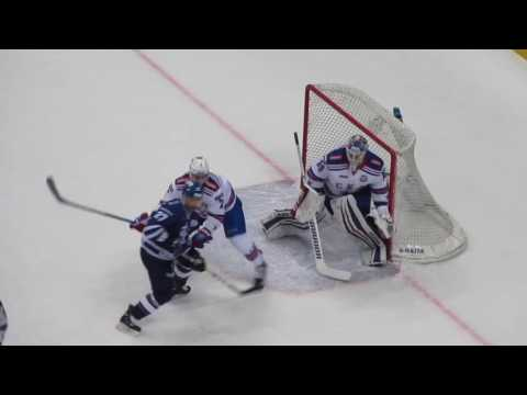 Mikko Koskinen in action during the Dynamo@SKA hockey game 12.03.17