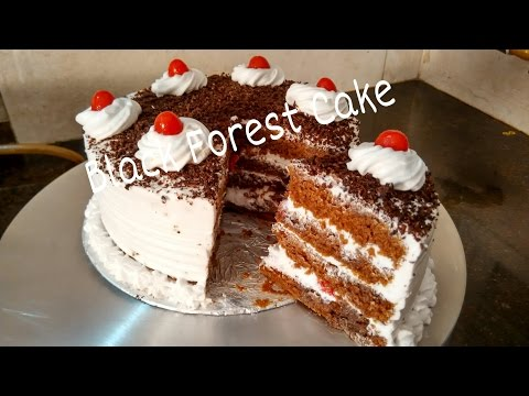 Perfect Homemade Eggless Black forest Cake Recipe/Cake For Beginners Tutorial by Somyaskitchen #234