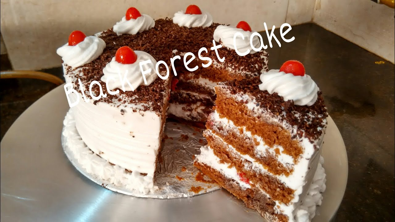 Cake Recipes For Beginners In Marathi: Perfect Homemade Eggless Black Forest Cake Recipe/Cake For