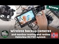 Wireless backup cameras for RV review and testing. Haloview mc7101 reverse camera & quad monitor