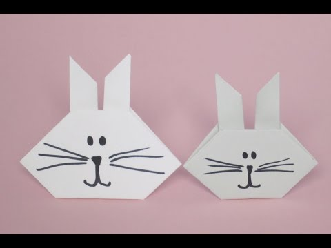 How To Make An Origami Bunny Face Easy DYI Simple Paper Tutorial