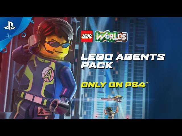 LEGO Worlds - Agents Pack Trailer | PS4