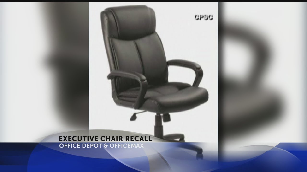office depot/officemax executive chair recall - youtube