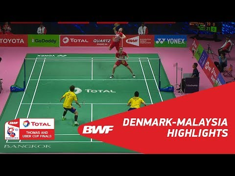 TOTAL BWF Thomas & Uber Cup Finals 2018   Denmark vs Malaysia   Group D - Highlights   BWF 2018