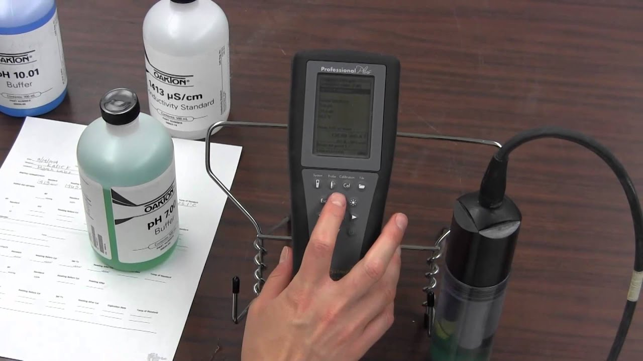 How to Calibrate a YSI Pro Plus Meter - YouTube