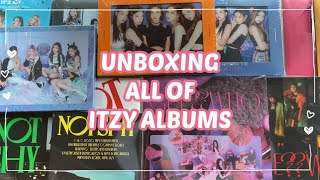 UNBOXING ALL OF ITZY ALBUMS // officially starting my Itzy collection !