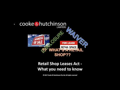 Retail Shop Leases Act -  What you need to know