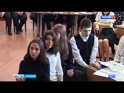Профориентационный урок в Ломоносовской гимназии