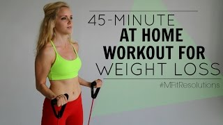 45-Minute At Home Workout For Weight Loss | #MFitResolutions