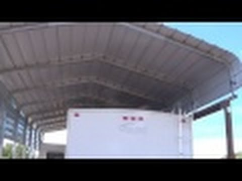 RV Carport - Versatube - Completed. Great Metal Carport to Protect your RV
