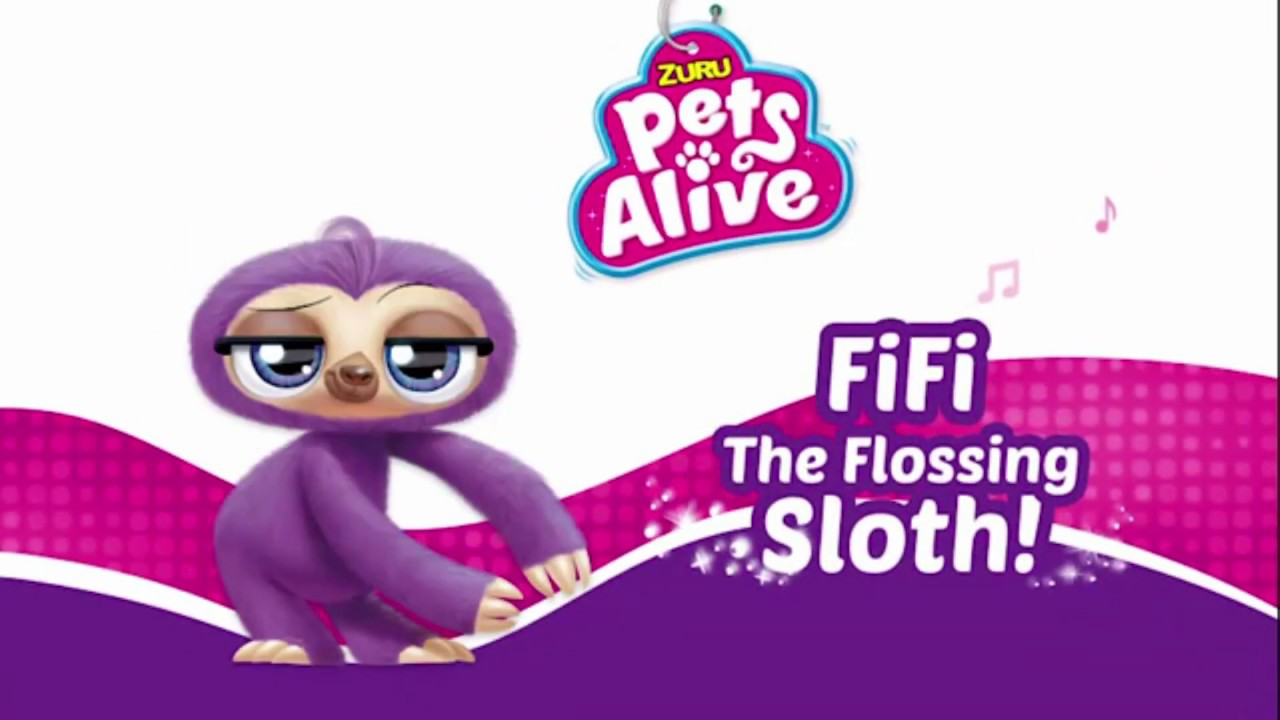 Pets Alive Fifi The Flossing Sloth Smyths Toys Youtube