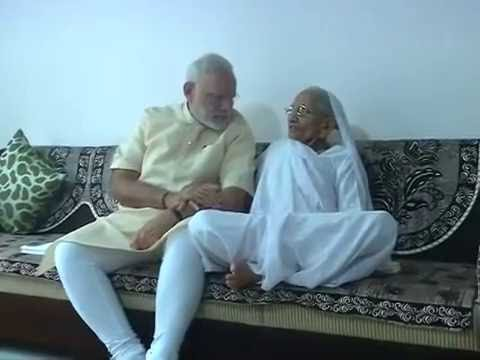 PM Modi takes blessings from his Mother on his birthday