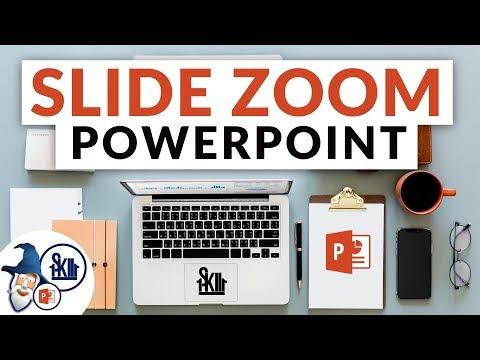PowerPoint Slide Zoom Tutorial 2018