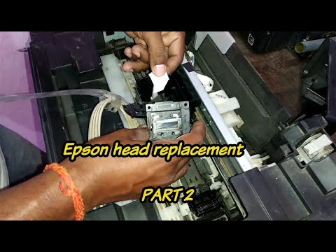 Epson l series head replacement guide part 2   How to replace print head