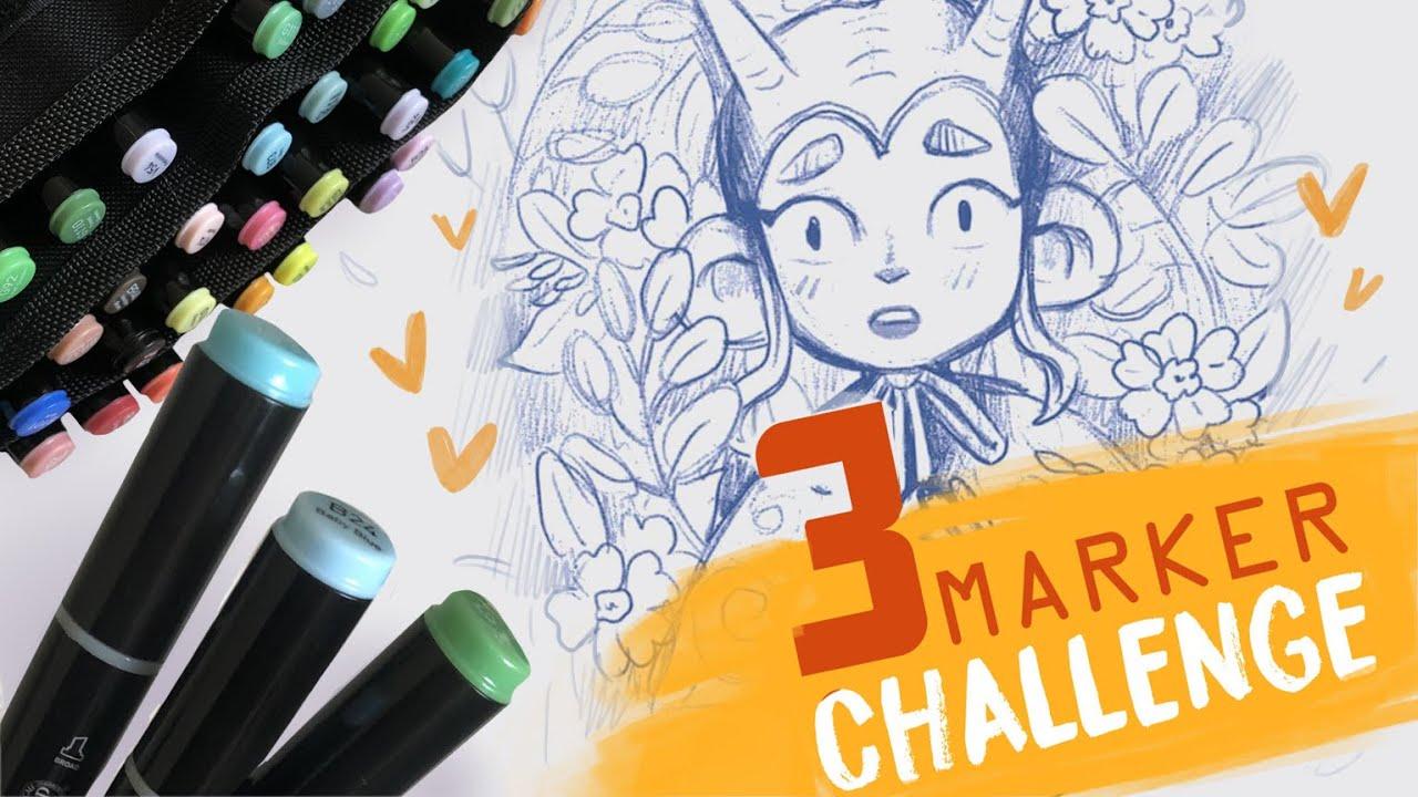 3 MARKER CHALLENGE ✍️ 3 МАРКЕРА ЧЕЛЛЕНДЖ