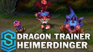 Dragon Trainer Heimerdinger Skin Spotlight - Pre-Release - League of Legends