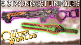 5 STRONGEST UNIQUE WEAPONS in The Outer Worlds - Caedo's Countdowns