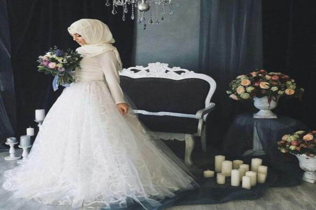 Sumpah Cantik Bangett Inilah Model Gaun Pengantin Berhijab Modern Nan Anggun By Video Lucu Banget Indonesia