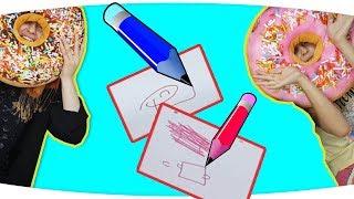 Resim Çizme Yarışması Gözler Kapalı EĞLENCELİ CHALLENGE  ( İSTEK VİDEO ) Fenomen Tv