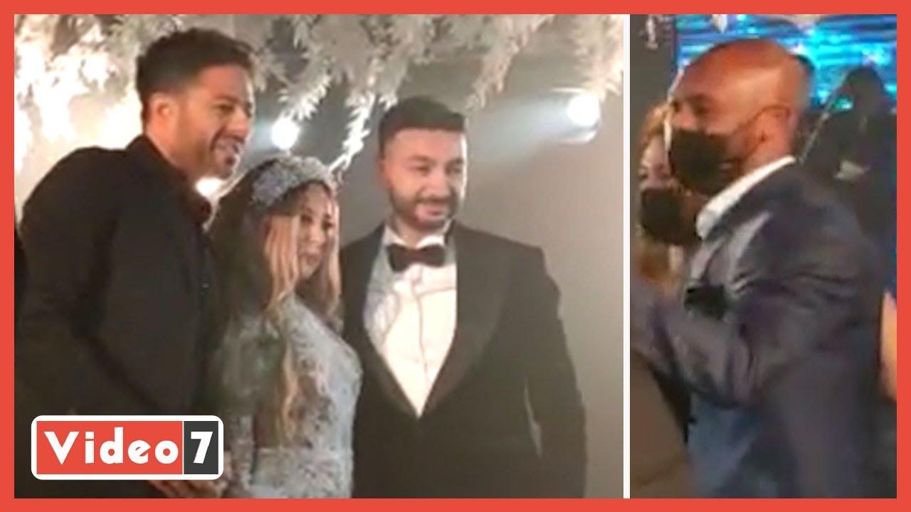 شيكابالا يرقص مع حماقي في زفاف نادر حمدي بحضور نجوم الغناء