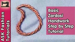 Basic Zardosi Handwork | Step by Step Tutorial | In Hindi