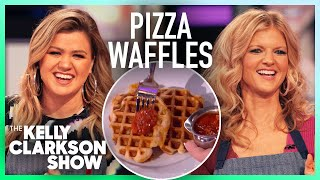 Kelly Clarkson Tries Making Pizza Waffles