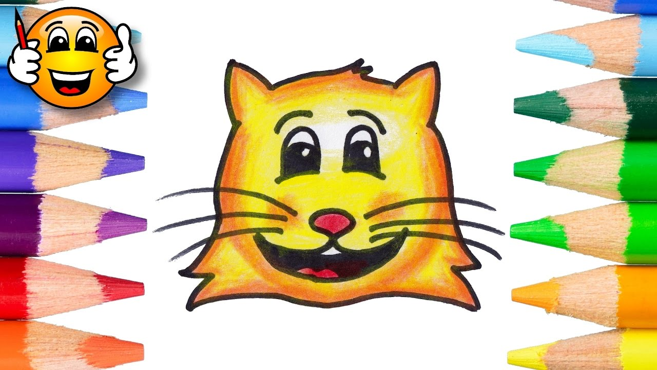 Coloring Pages for Kids Cute Cat Face Coloring Book Videos