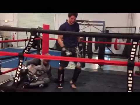 Veritas Combat Arts Academy Kickboxing...Joey Ruquet vs. Ali Zachary Sparring