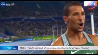 1500m : Taoufik makhloufi offre une seconde médaille d'argent pour l'Algérie