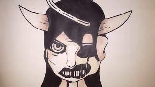 How To Draw Alice Angel From Bendy And The Ink Machine Chapter 3 Step By Step