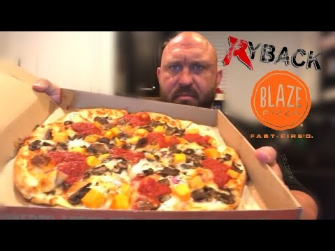 Ryback Blaze Pizza Food Review Mukbang Its Feeding Time