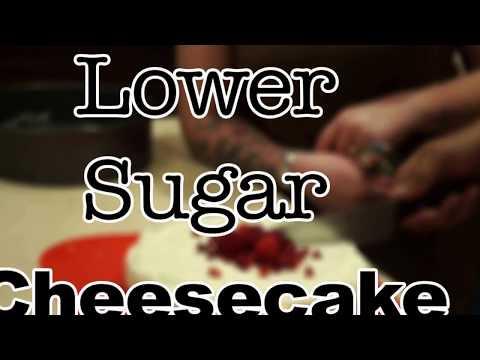 Lower Sugar Cheescake (also nut-free, vegetarian)
