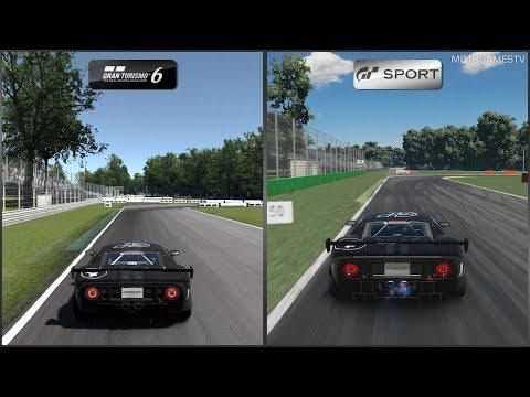 Gran Turismo 6 vs Gran Turismo Sport - Ford GT LM Spec II Test Car at Monza