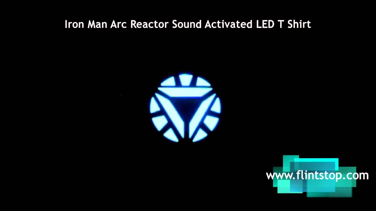 Iron Man Arc Reactor Sound Reactive LED Tshirt
