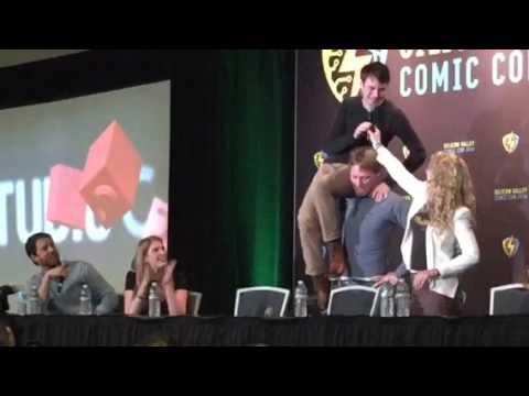 Studio C - San Jose ComicCon - Shoulder angel with Jon Heder.