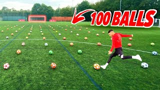EXTREME 100 BALL CHALLENGE! 😱 | F2Freestylers