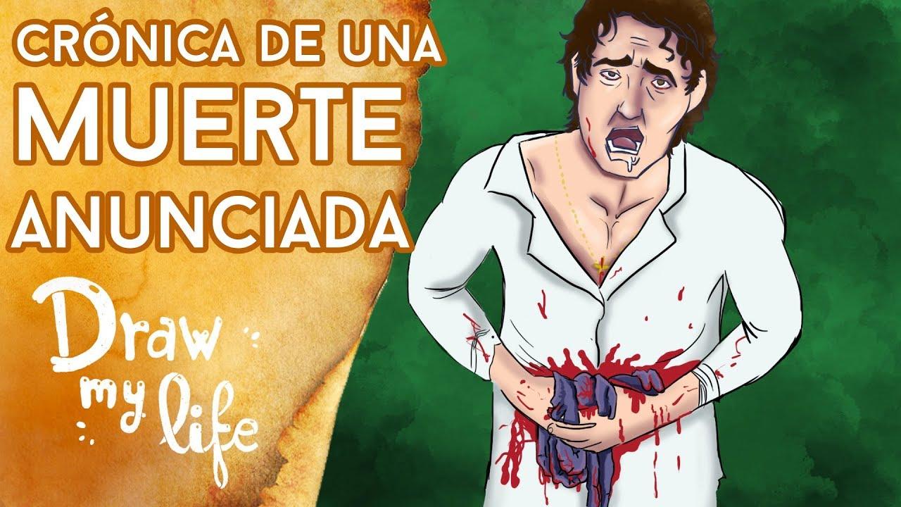 Resumen de CRÓNICA DE UNA MUERTE ANUNCIADA - Draw My Life