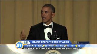 obama drops the mic jokes at whcd