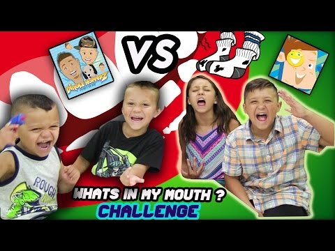 DINGLE HOPPERZ VS FUNnel VISION !! WHATS IN MY MOUTH ?!? FUNNY, GROSS!   CHALLENGE