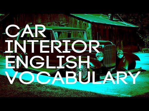 Car Interior English Vocabulary - YouTube